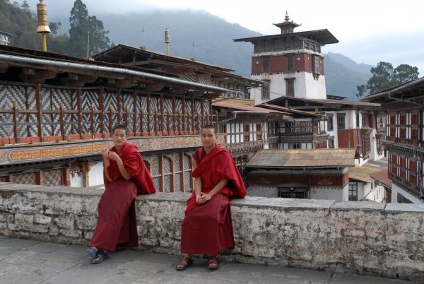 Monaci buddisti in Bhutan
